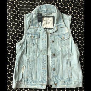 Abercrombie & Fitch Distressed Denim Vest